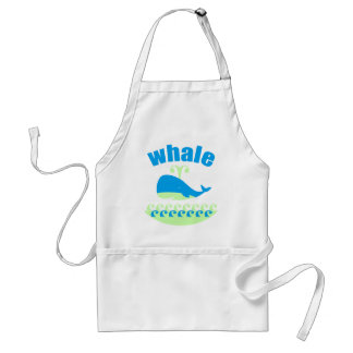 The whale adult apron