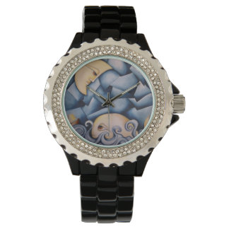 The Whale and the Moon Rhinestone Art Watch