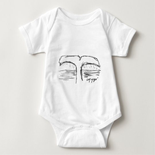 the whale baby bodysuit