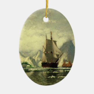 The whale catcher boat which is closed in the iceb ceramic ornament