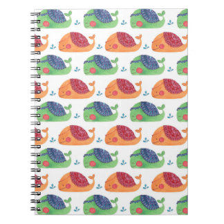 The Whale Pattern Printed on Notebook Illustration by Haidi Shabrina