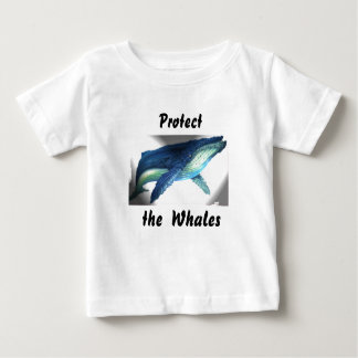 the whale, Protect, the  Whales Baby T-Shirt