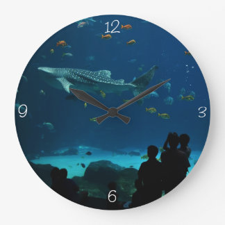 The Whale Shark Encounter Large Clock