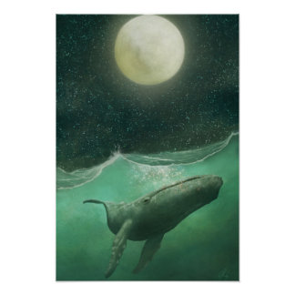 The Whale & the Moon Poster