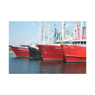 The Whaling City Fishing Fleet Wrapped Canvas Art