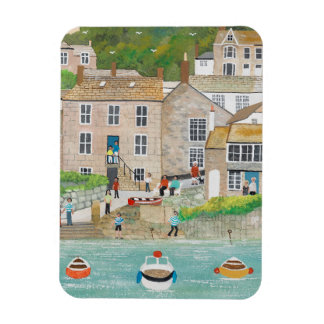 The Wharf at Mousehole Rectangular Photo Magnet
