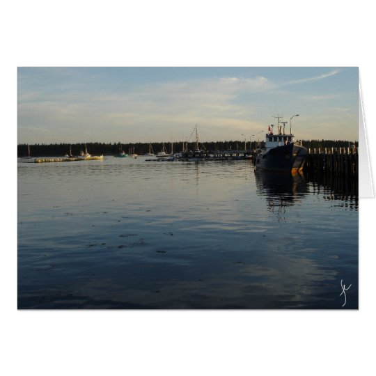 The Wharf at sunset Card