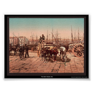 The wharf, Naples, Italy Poster