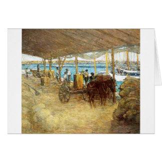 The Wharves, Nassau by Julian Alden Weir Card