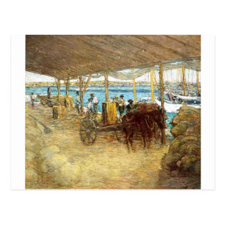The Wharves, Nassau by Julian Alden Weir Postcard
