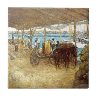 The Wharves, Nassau by Julian Alden Weir Tile