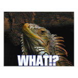 The What!? Iguana 4.25x5.5 Paper Invitation Card