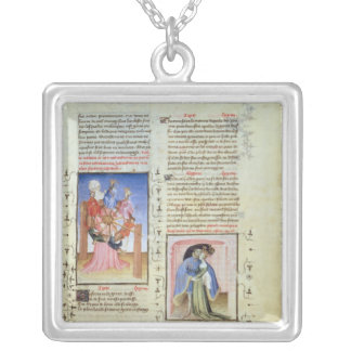 The Wheel of Fortune and the Treachery Silver Plated Necklace