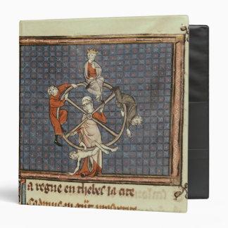The Wheel of Fortune, from Ovide Moralise Vinyl Binders