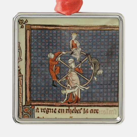 The Wheel of Fortune, from Ovide Moralise Metal Ornament