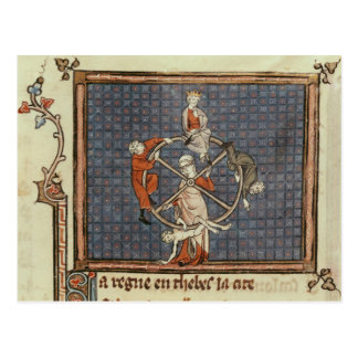 The Wheel of Fortune, from Ovide Moralise Post Card
