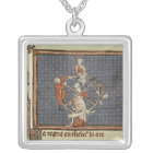 The Wheel of Fortune, from Ovide Moralise Silver Plated Necklace