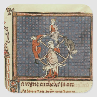 The Wheel of Fortune, from Ovide Moralise Square Sticker