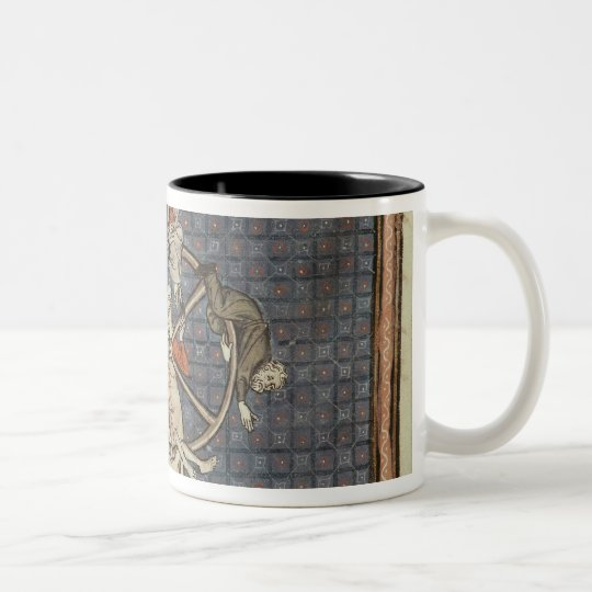The Wheel of Fortune, from Ovide Moralise Two-Tone Coffee Mug
