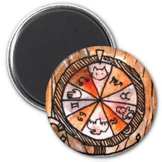 The Wheel of Fortune Tarot Card 2 Inch Round Magnet
