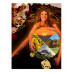 The Wheel of Fortune Tarot Card Art Postcards
