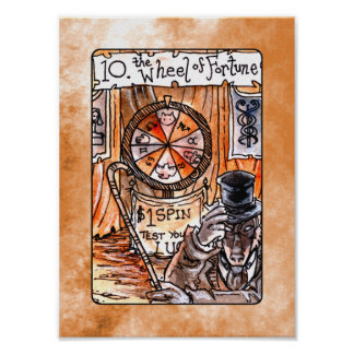The Wheel of Fortune Tarot Card Poster