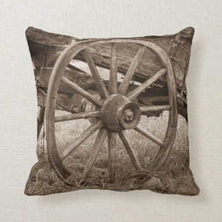 The Wheel that won the West Throw Pillow