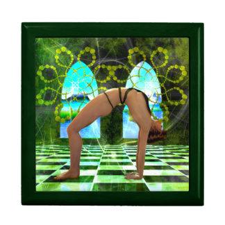 The Wheel Yoga Pose Keepsake Box