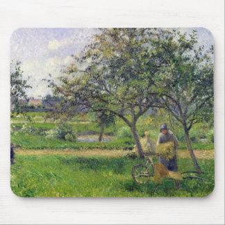 The Wheelbarrow, Orchard, c.1881 Mouse Pad