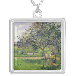 The Wheelbarrow, Orchard, c.1881 Silver Plated Necklace