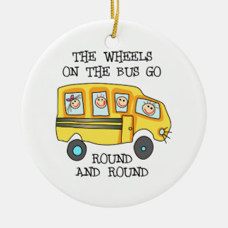 THE WHEELS ON THE BUS CERAMIC ORNAMENT