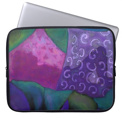 The Whimsical Hideaway - Purple and Magenta Heaven Laptop Computer Sleeve