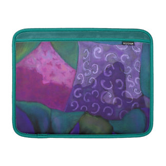 The Whimsical Hideaway - Purple and Magenta Heaven Sleeve For MacBook Air