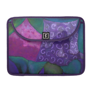 The Whimsical Hideaway - Purple and Magenta Heaven Sleeve For MacBook Pro