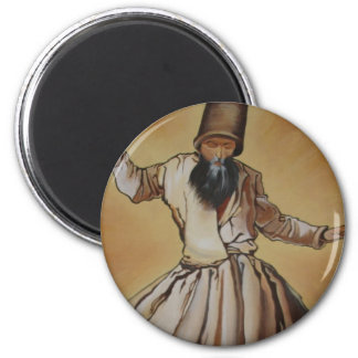The Whirling Dervish 2 Inch Round Magnet