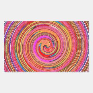 The Whirlpool called Life Rectangular Sticker