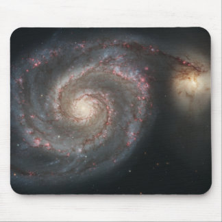 The whirlpool galaxy (M51) and companion galaxy Mouse Pad