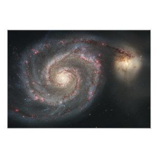 The whirlpool galaxy (M51) and companion galaxy Photo Print