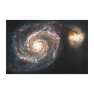 The Whirlpool Galaxy Messier 51a NGC 5194 Canvas Print