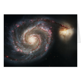 The Whirlpool Galaxy Messier 51a NGC 5194 Card