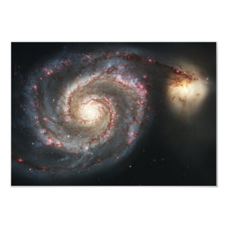 """The Whirlpool Galaxy Messier 51a NGC 5194 3.5"""" X 5"""" Invitation Card"""
