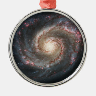 The Whirlpool Galaxy Messier 51a NGC 5194 Metal Ornament