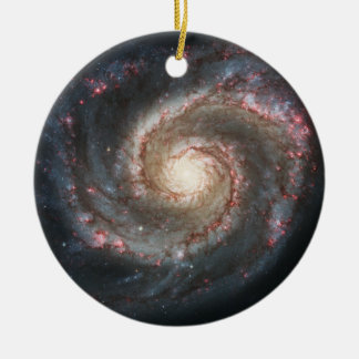 The Whirlpool Galaxy Messier 51a NGC 5194 Christmas Tree Ornaments