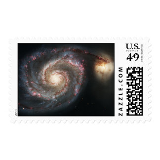 The Whirlpool Galaxy Messier 51a NGC 5194 Postage Stamp