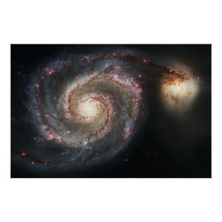 The Whirlpool Galaxy Messier 51a NGC 5194 Poster