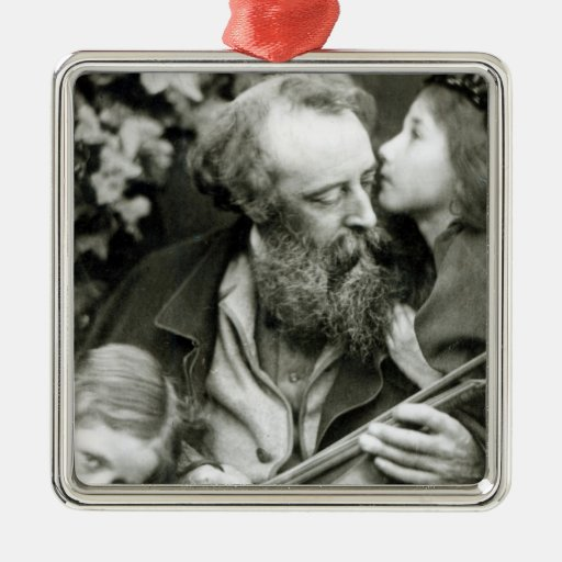 The Whisper of the Rose Square Metal Christmas Ornament