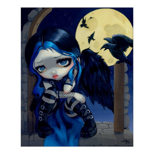 The Whispered Word Lenore ART PRINT gothic fairy