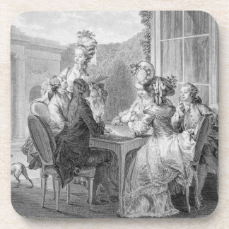 The Whist Party, 1783, engraved by Jean Dambrun (1 Beverage Coaster