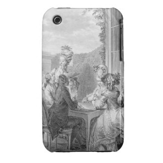 The Whist Party, 1783, engraved by Jean Dambrun (1 iPhone 3 Cover