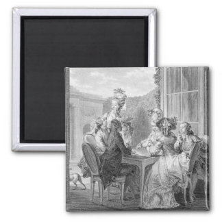The Whist Party, 1783, engraved by Jean Dambrun (1 Magnet